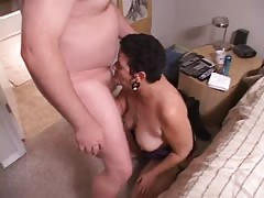Fat short-haired slut is getting nailed hard anal in her big booty
