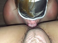 White slave rimming asian master